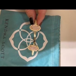 Kendra Scott Rose Quartz and Gold Bracelet